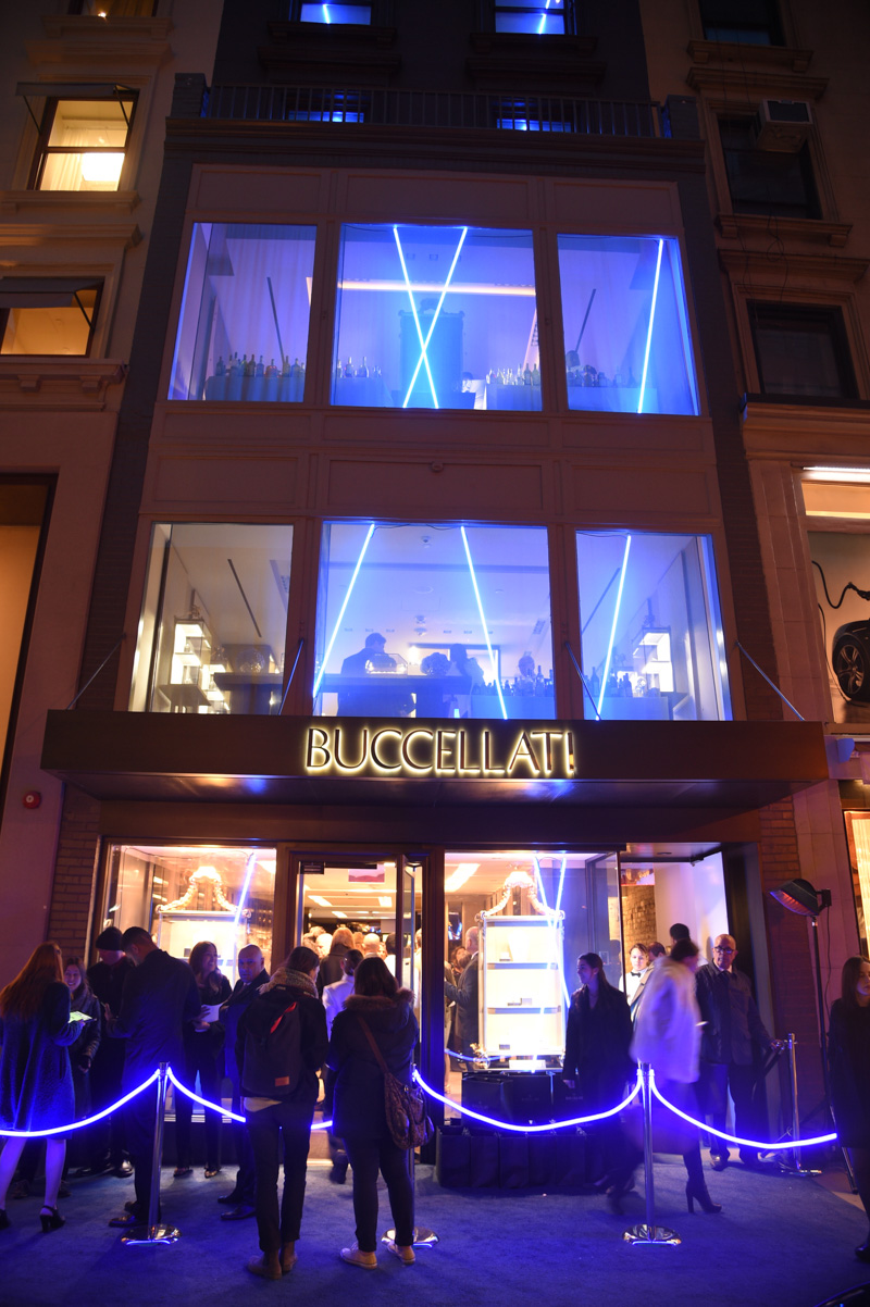 attends Timeless Blue, Buccellati New York Flagship Opening Celebration on March 12, 2015 in New York City.