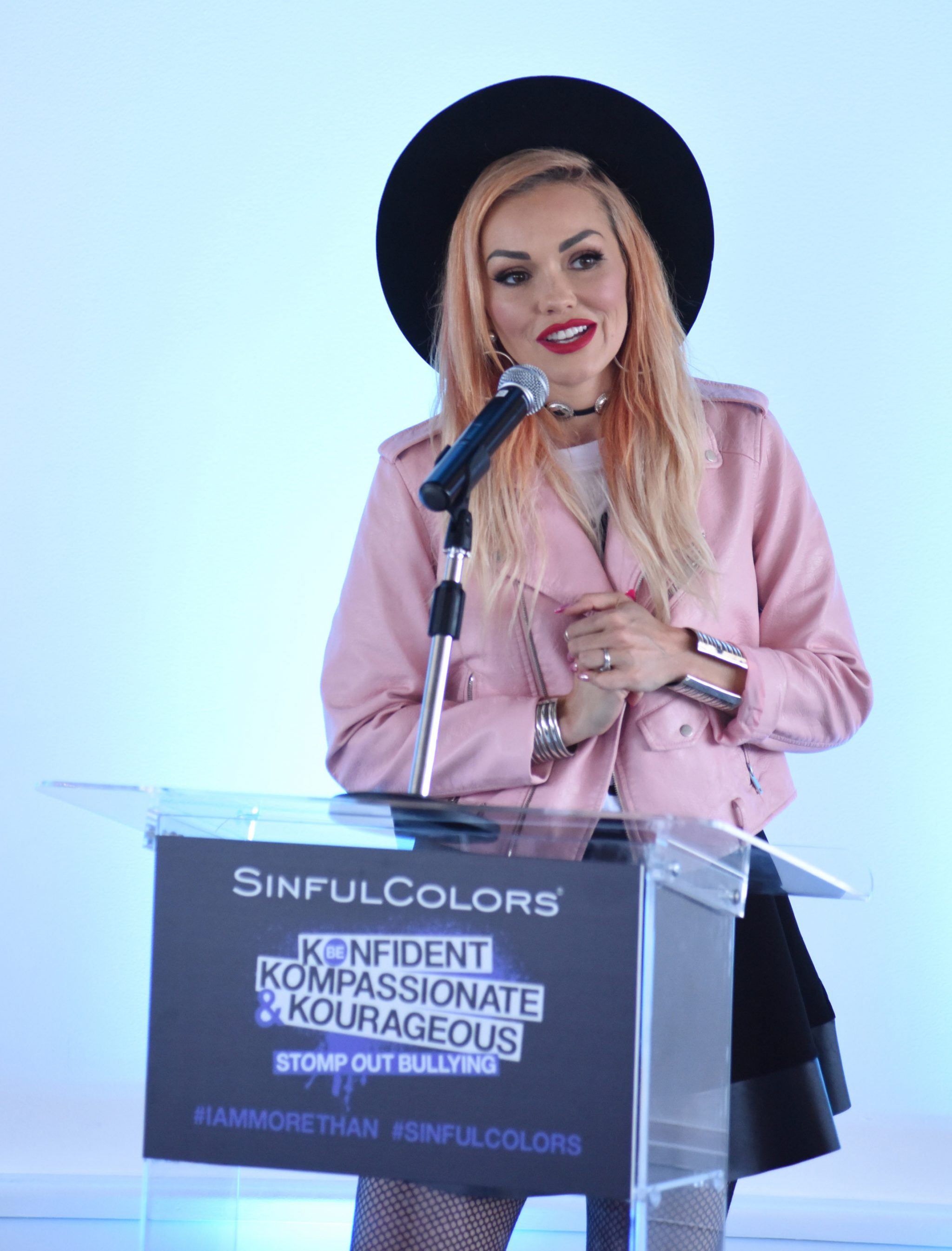 LOS ANGELES, CA - JULY 14:  (EXCLUSIVE COVERAGE) Kandee Johnson speaks at SinfulColors and Kylie Jenner Announce charitybuzz.com Auction for Anti Bullying on July 14, 2016 in Los Angeles, California.  (Photo by Vivien Killilea/Getty Images for SinfulColors)