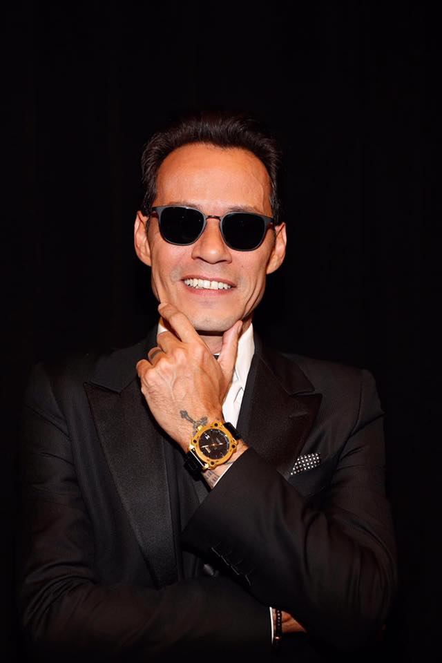Marc Anthony (LARAS Person Of The Year 2016) wearing a special 24kt edition Bulova timepiece