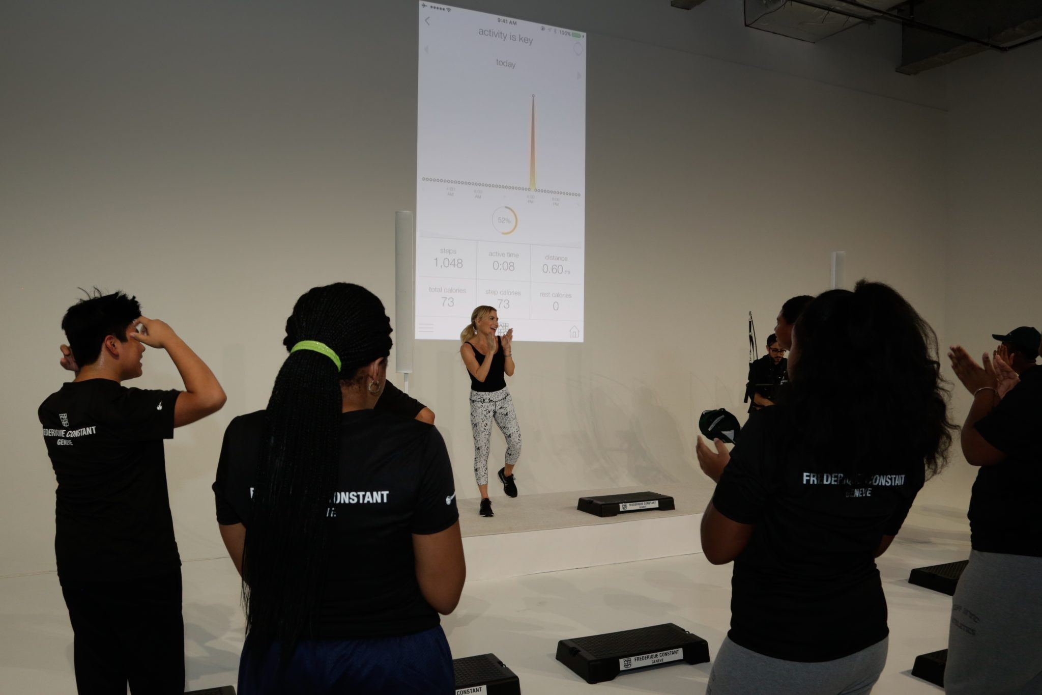 Fitness class with Tracy Anderson and the kids from DonorsChoose.Org