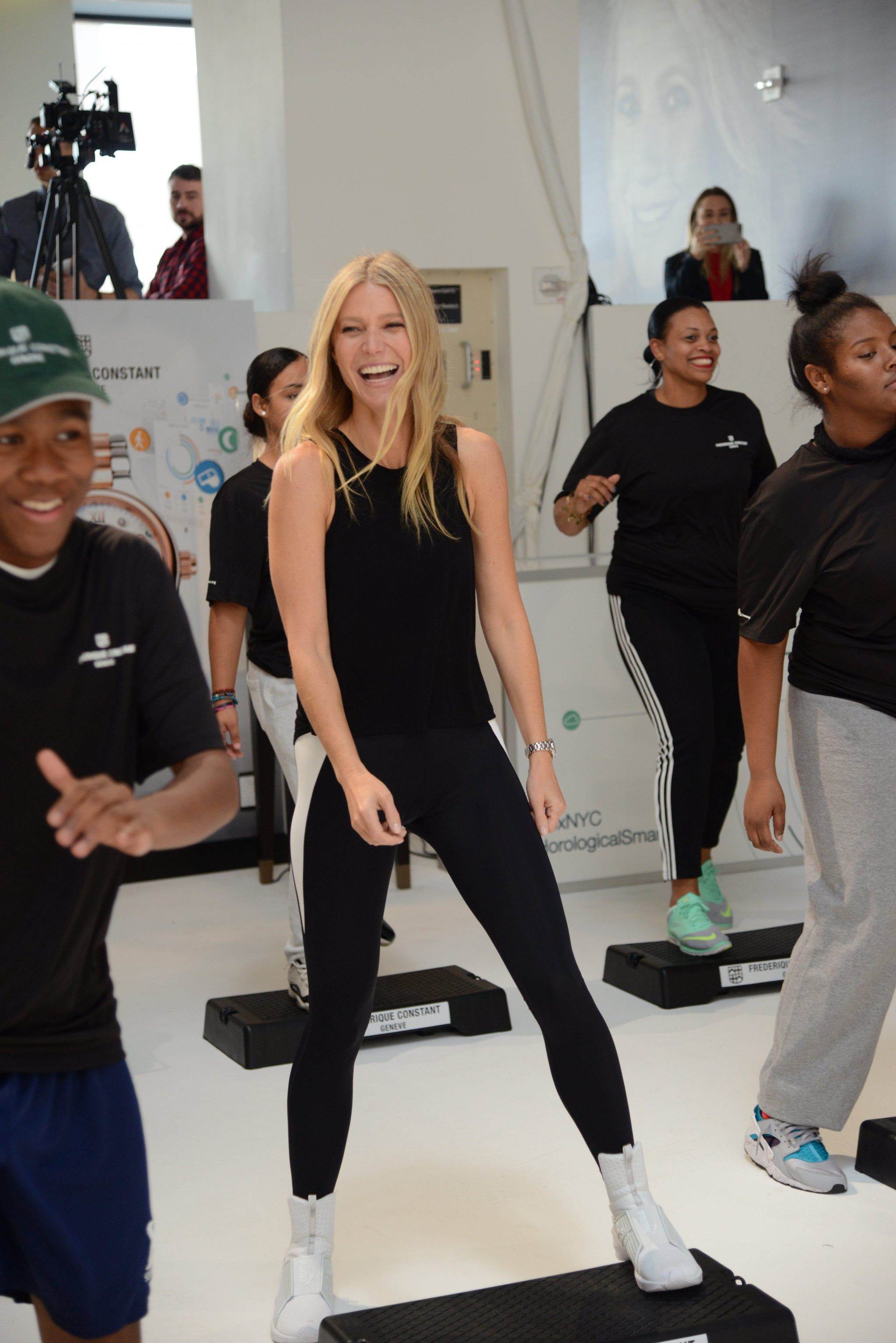 Gwyneth during the fitness class